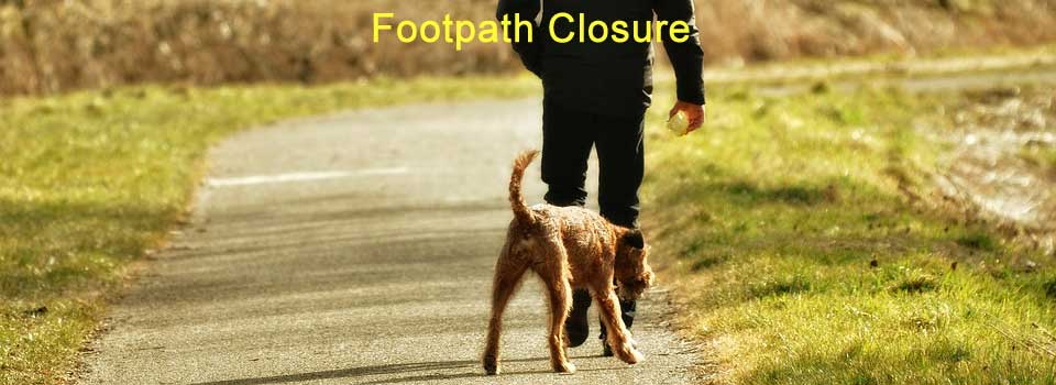Footpath closed 24th April 2018 to 15th November