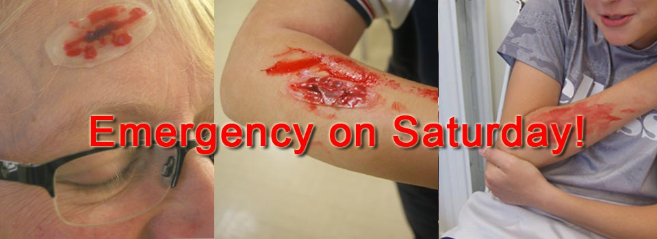 Emergency on Saturday!