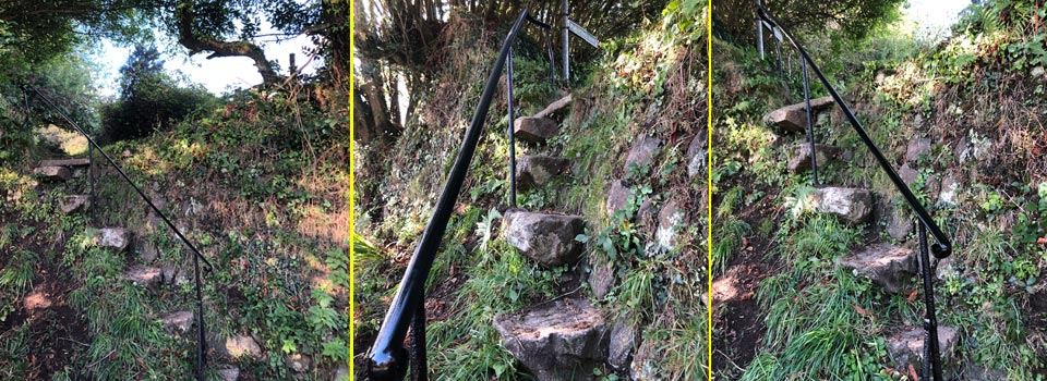 Lanner Trail handrail repaired